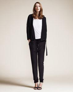 silky, draped pants