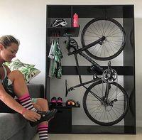 Cool indoor bike rack and storage