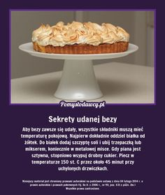 SEKRET ZAWSZE UDANEJ BEZY - SPRÓBUJ SAM/A! Life Hacks, Food Porn, Food And Drink, Cookies, Baking, Cake, Sweet, Recipes, Kitchens