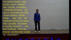 NOSSO ATOR ADENILTON FERNANDEZ- SUPERAÇÃO  NA  OFICINA  DE TEATRO.