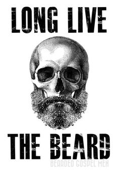 Long Live The Beard! The beard will never die as long as you respect it. Respect your beard with the best beard care products in the world. Check out the link up in ht bio. Beards And Mustaches, I Love Beards, Great Beards, Awesome Beards, Beard Quotes, Beard Tattoo, Tattoo Man, Beard No Mustache, Hair And Beard Styles