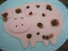 5 Clean and Dirty Pigs #storytime #flannelfriday #flannelboard #feltboard