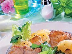 schab, ananas, dania główne, dania z wieprzowiny