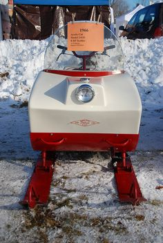 Front view of 1966 Arctic Cat Snowmobiles at Tip-Up Town, Houghton Lake, MI 1-21-2012 by Corvair Owner, via Flickr
