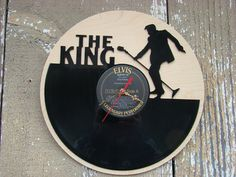 Repurposed recycled Vinyl Record   Elvis  The King by ReSpinIt, $45.00