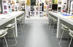 Gerflor SAS, St. Paul Trois Châteaux, France white #BCN Slide Base #chairs #projects #kristaliadesign #interiorideas #Gerflor