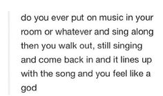 I always try to do this! Or i keep singing and switch the radio station and then put it back on