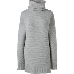 Lands' End Women's Plus Size Lofty Turtleneck Tunic Sweater (38 CAD) ❤ liked on Polyvore featuring plus size women's fashion, plus size clothing, plus size tops, plus size sweaters, sweaters, grey, womens plus size sweaters, gray sweaters, fuzzy sweaters and turtle neck top