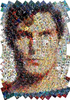 Chris and Eric- No way!! Someone used comic book magazines to create the face of super man. Very cool way using the mosaic style.
