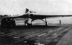 Experimental Aircraft H-IX v2 ready to fly. Runway in Oranienburg.     Location: Oranienburg, Germany Date: February 1945