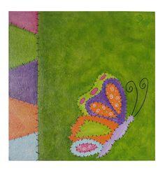 cuadro de mariposa estilo patchwork