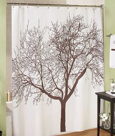 VERY Similar To Urban Outfitters But Much Cheaper Brown Tree Shower Curtain
