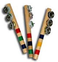Jingle Sticks: Children's Music by Nancy Stewart - Homemade Instruments Instrument Craft, Homemade Musical Instruments, Making Musical Instruments, Music For Kids, Diy For Kids, Crafts For Kids, Toddler Crafts, Preschool Music, Music Crafts