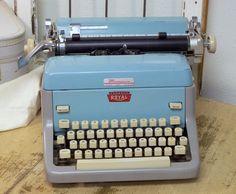 Vintage 1961 Royal FP Typewriter in Aqua by daisytoad on Etsy. $104.00, via Etsy.