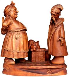family by Victor Kaut, woodcarving
