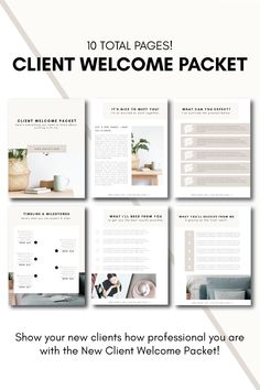Client Welcome Packet Branding Your Business, Creative Business, Business Tips, Survey Template, Templates, Welcome Packet, Welcome Letters, Interior Design Business, Funny Weekend