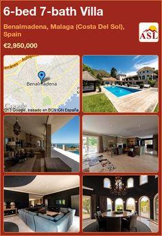 6-bed 7-bath Villa in Benalmadena, Malaga (Costa Del Sol), Spain ►€2,950,000 #PropertyForSaleInSpain