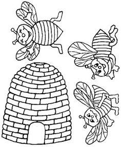 Fichas Infantiles: Móvil de abejas