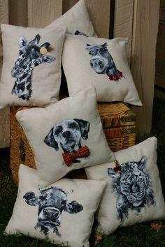 Original Hand Painted Dog Pillow Dalmatian by LittleLoBoutique