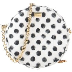 Dolce & Gabbana Handbags (€560) ❤ liked on Polyvore featuring bags, handbags, clutches, purses, polka dots, white, satchel handbags, man bag, handbag satchel and mini pochette