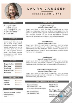 cv template CV Template Milan - Go Sumo CV Template