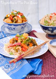 simply.food: Vegetables in Tao Pan Sauce with Garlic Rice #PowerofFrozen
