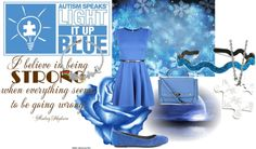 """""""Light it up Blue for Autism"""" by yumyumcupcakes on Polyvore"""