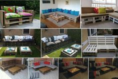 Pallet sofa/ great ideas for the outside