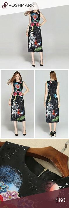 Dress Astronaut print dress fashion style inspired from Dolce and Gabbana 2017 runway fashion. Brand new. The size is XL with following measurements bust 96, waist 88 and length 127. Dresses Maxi