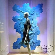 ephemereetc: #galerieslafayette #blue #windowdisplay