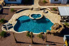 Freeform and Natural Swimming Pool Designs — Presidential Pools, Spas & Patio of Arizona Amazing Swimming Pools, Swimming Pool Photos, Natural Swimming Pools, Swimming Pools Backyard, Pool Spa, Swimming Pool Designs, Cool Pools, Pool Landscaping, Awesome Pools
