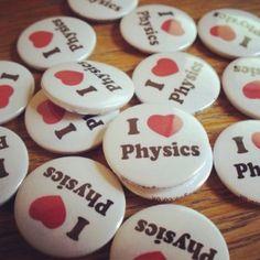 I Love Physics badges