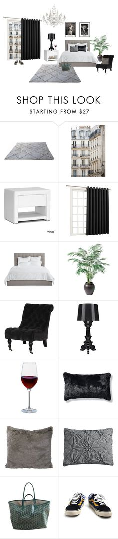 """""""Untitled #246"""" by fashiondisguise on Polyvore featuring interior, interiors, interior design, home, home decor, interior decorating, Haussmann, Baxton Studio, Sun Zero and Avery"""