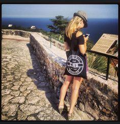 #tbt Our favorite fashionista Alexa Susser taking in the view with her @Comes With Baggage tote #Cannes www.ComesWithBaggage.com
