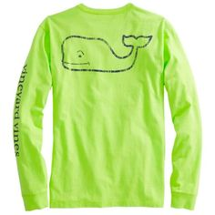 Long-Sleeve Vintage Whale Graphic Pocket T-Shirt - Tart Apple