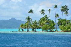 One of beautiful motus around Raiatea, French Polynesia Bora Bora, Tahiti, Isla Margarita, Society Islands, San Juan Puerto Rico, Cozumel Mexico, Cruise Destinations, France, Hawaiian Islands