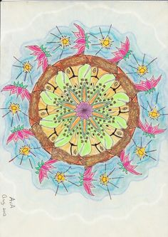 MANDALA: Zilvergrijs-eenhoorn, lotusbloem, ster