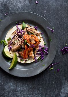 Pulled Pork Tacos with Kimchi Recipe from @whiteonrice