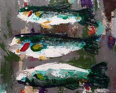 """Today's Catch"" (acrylic on 8x10 canvas panel with palette knife) - J. Travis Duncan http://2-john-duncan.artistwebsites.com/featured/todays-catch-j-travis-duncan.html"