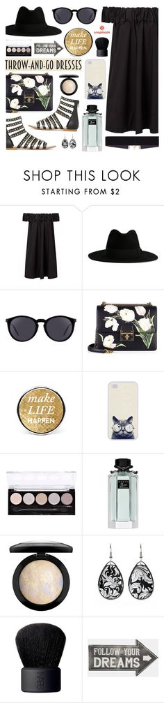Easy Peasy: Throw-and-Go Dresses by dora04 on Polyvore featuring Dolce&Gabbana, 8 Other Reasons, Yves Saint Laurent, NARS Cosmetics, MAC Cosmetics, Gucci, Sass & Belle and easypeasy