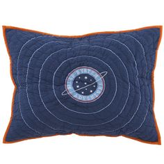 """Shop All Solar System's Go Sham. Let the countdown to bedtime begin. Our out-of-this-world Solar System sham features a star and planet design and """"solar system adventure"""" embroidered in the center."""