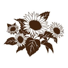 Large Sunflower Coloring Picture Free Printable