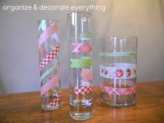 Washi Tape Vases - Organize and Decorate Everything
