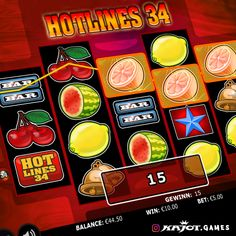 Hot, hotter, Hotlines 34! This hot five-reel game promises fun and winning chances right down the line. The game features 34 paylines and up to six Hotlines symbols are waiting for fiery adventurers. So the hottest tip of the day is to start straight away, play and win!