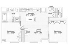 Free floor plans for small houses 2 bedroom house plans - One bedroom apartments minneapolis ...