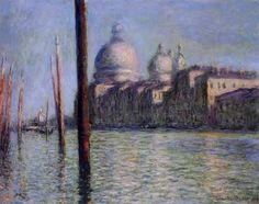 """Venise  """"Le grand canal """" -Claude Monet"""