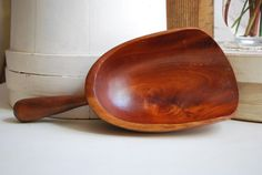 Large Hand Carved Wood Scoop by EnchantedBella on Etsy