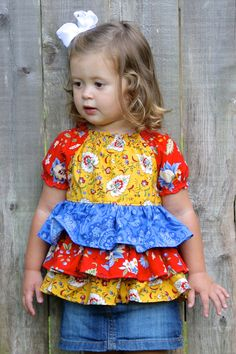 Instant+Download+Short+Sleeve+Ruffled+Peasant+by+PixieDustPatterns,+$7.50