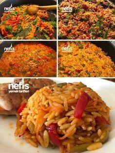 Havuçlu Biberli Arpa Şehriye Pilavı (Nefis) – Nefis Yemek Tarifleri Carrot Pepper Barley Noodle Pilaf (Yummy) # Havuçlubiberliarpaşehriyepilav of the the Rice Recipes, Yummy Recipes, Dinner Recipes, Yummy Food, Healthy Recipes, Yummy Yummy, Healthy Foods, Turkish Recipes, Asian Recipes