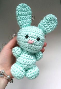 Free Amigurumi Bunny Rabbit pattern revised by Strings and Things! This is a great pattern for beginners wanting to learn how to make amigurumi animals!